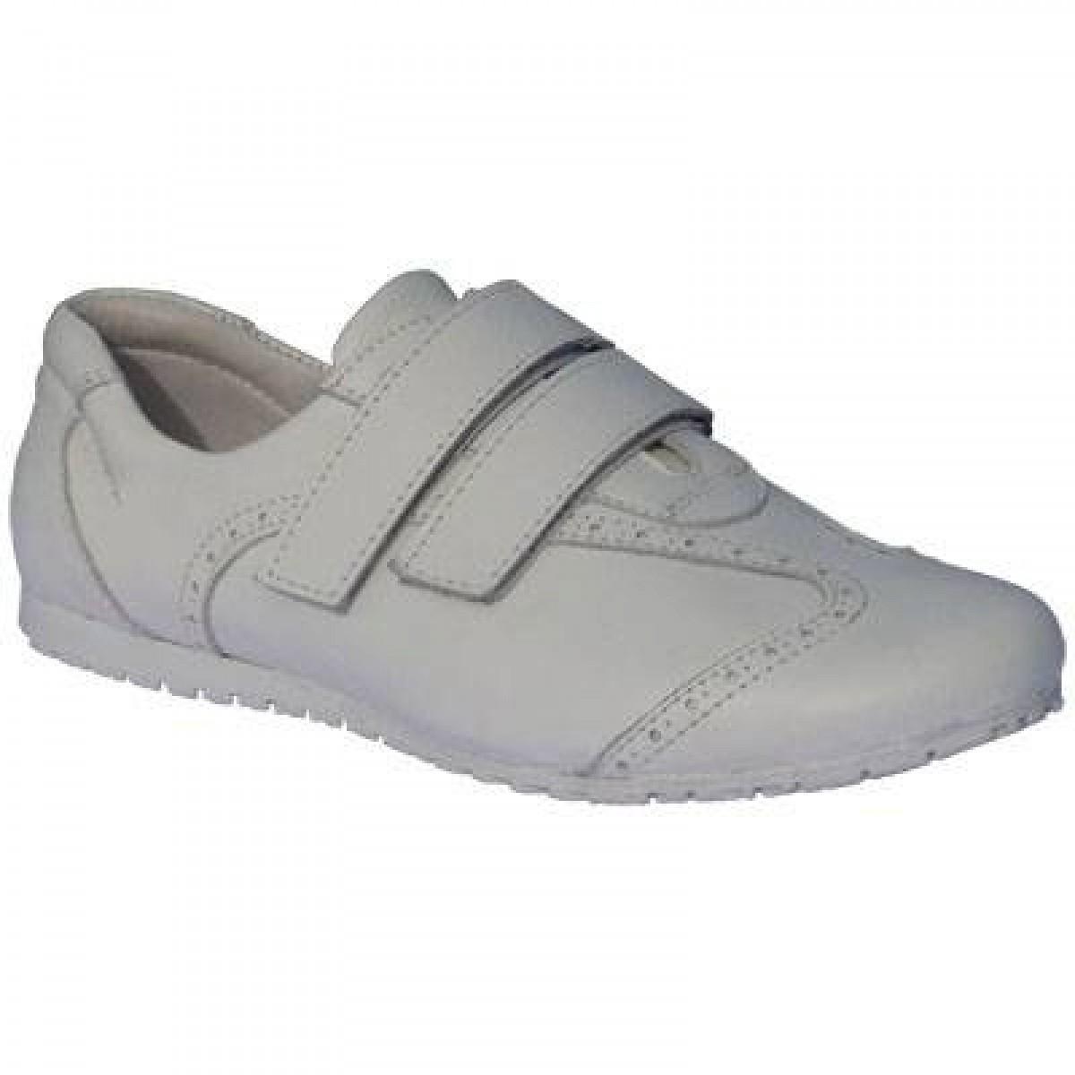 Cırtlı Beyaz Bayan Spor Ayakkabı