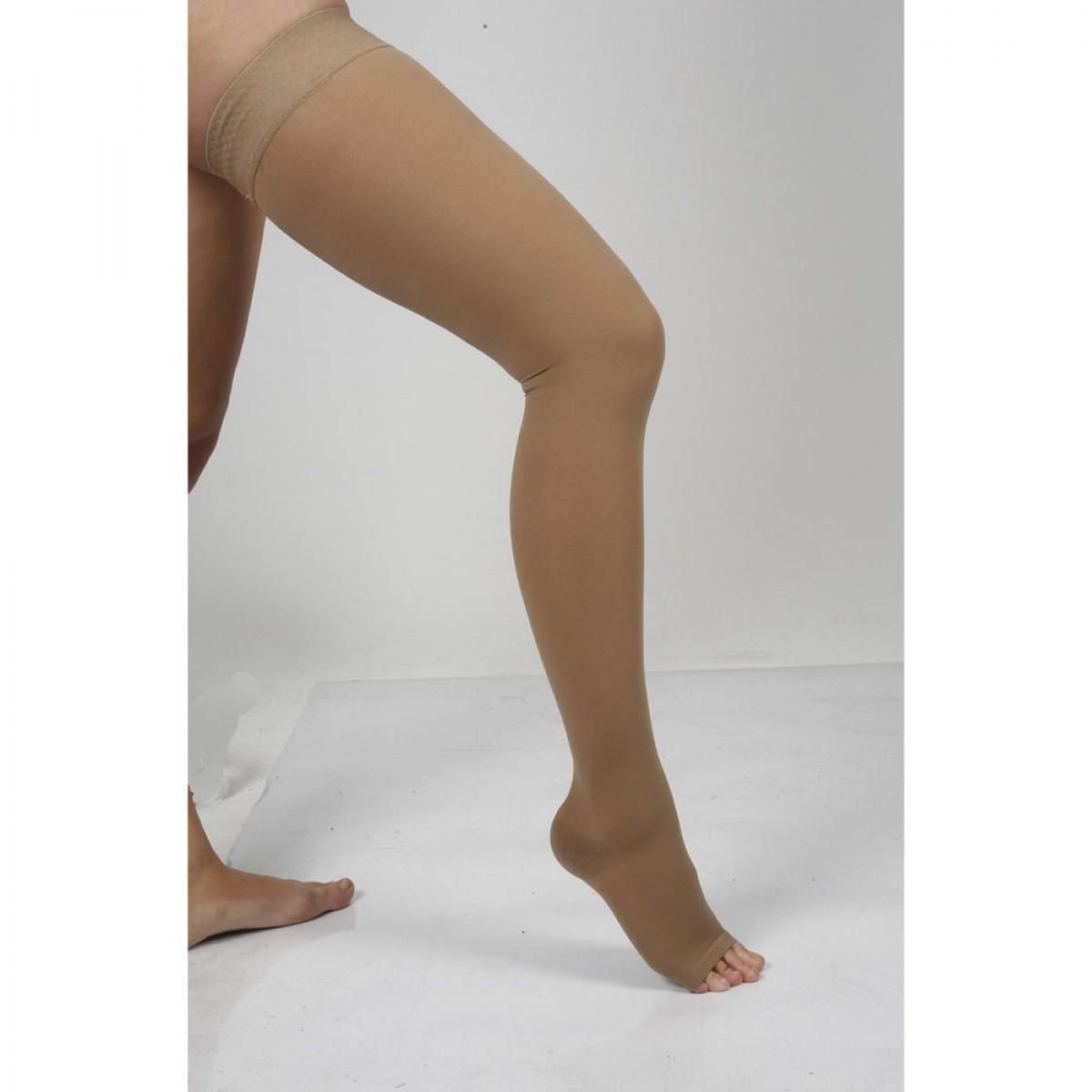 Dizüstü Silikonlu Varis Çorabı Burnu Açık